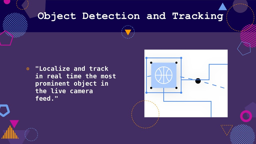 "Object Detection and Tracking ◍ ""Localize and t..."