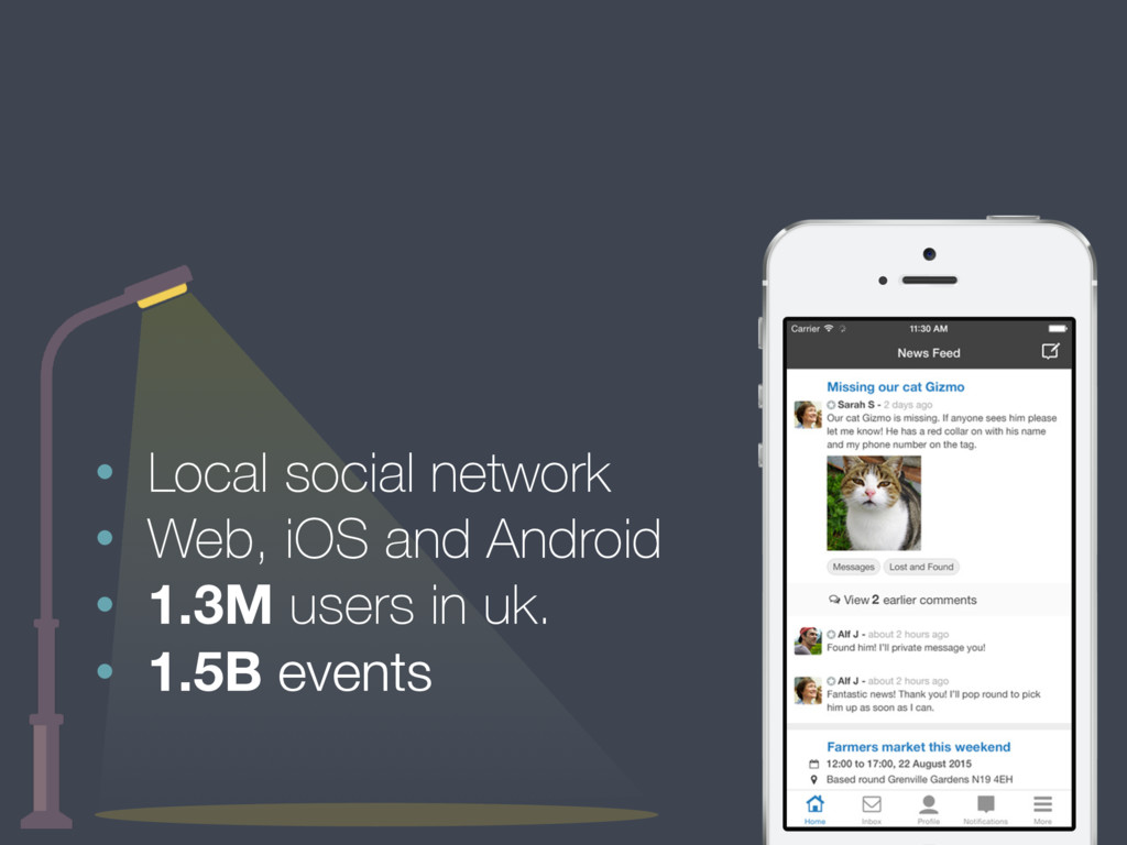 • Local social network • Web, iOS and Android •...