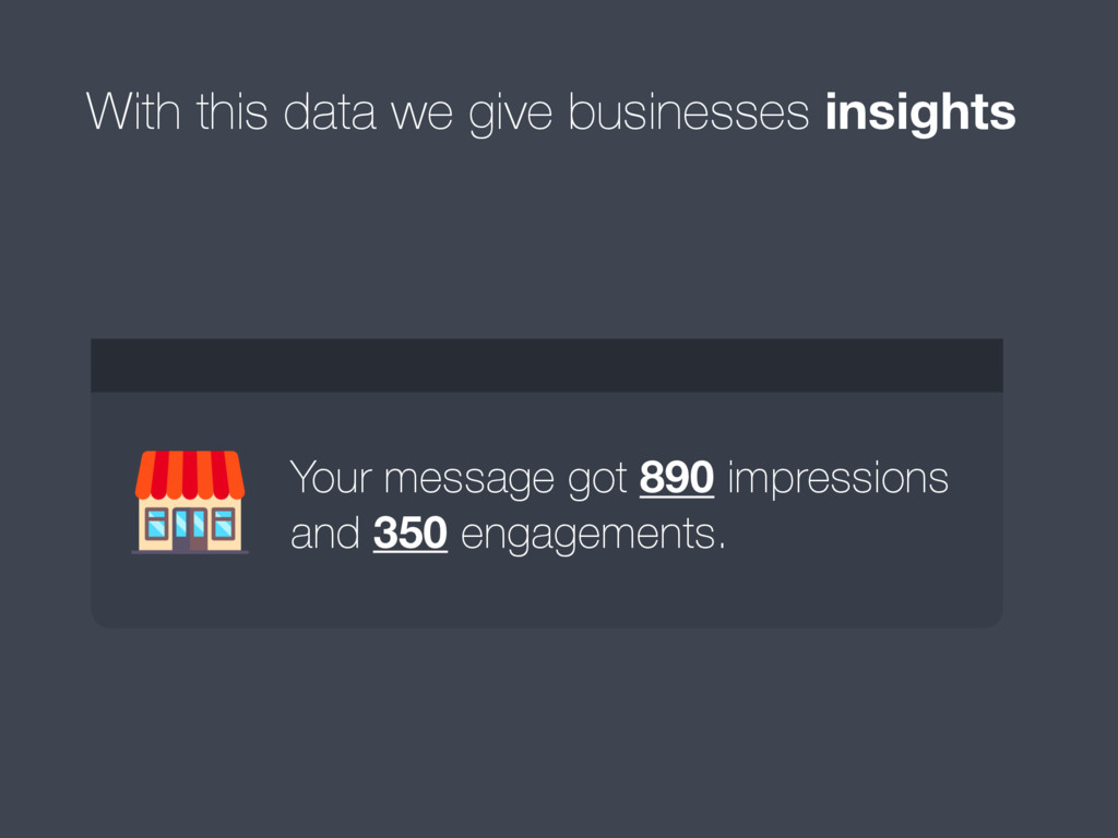 With this data we give businesses insights Your...