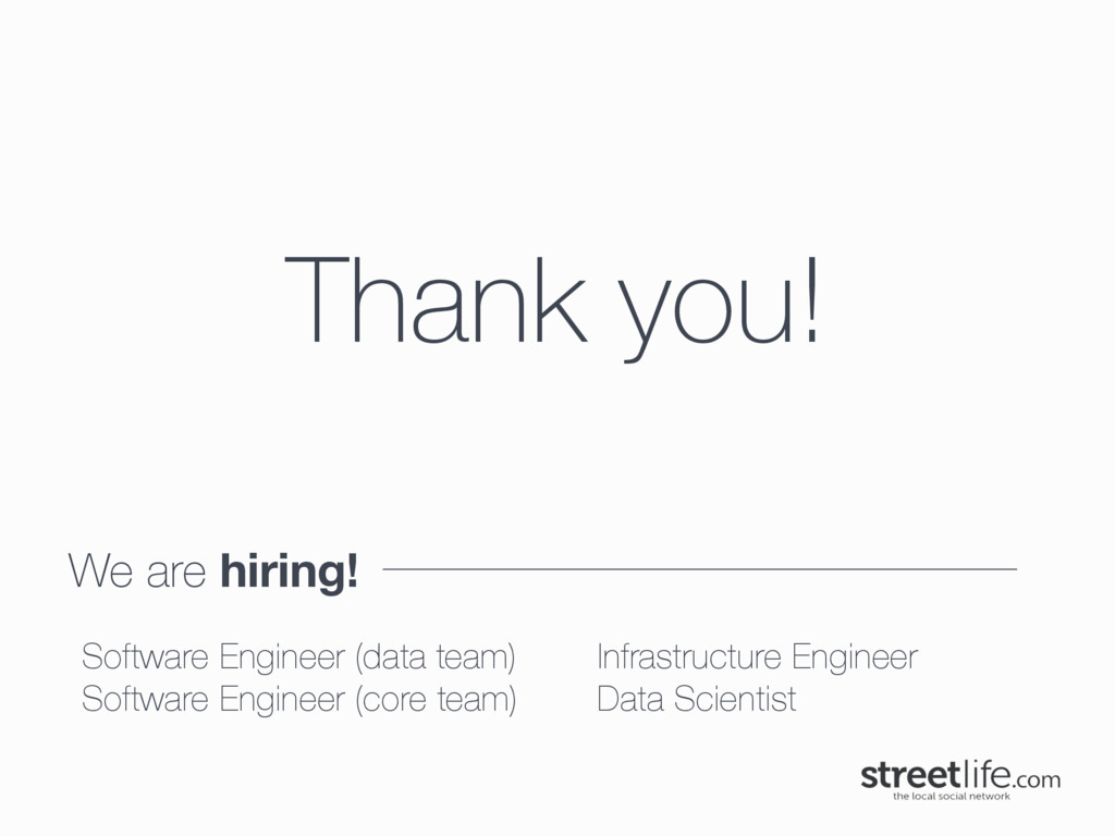 We are hiring! Thank you! Software Engineer (da...