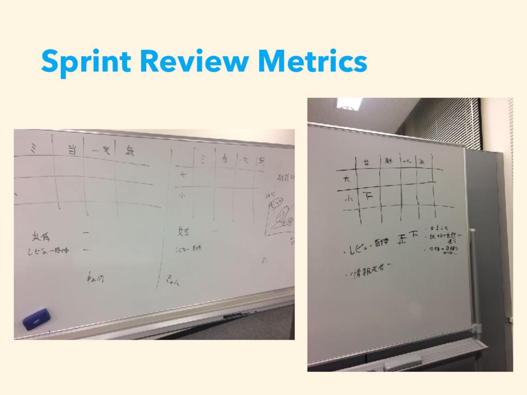 Sprint Review Metrics
