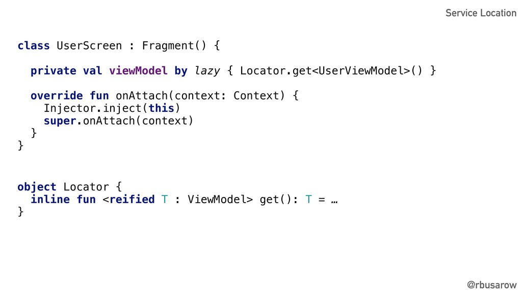 @rbusarow class UserScreen : Fragment() { priva...
