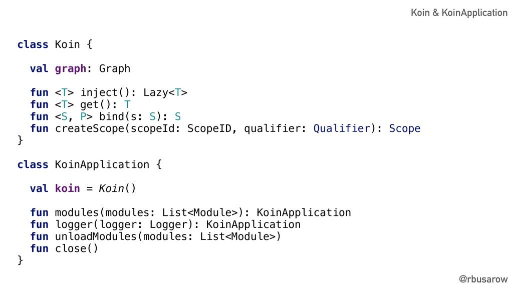 class Koin { val graph: Graph fun <T> inject():...