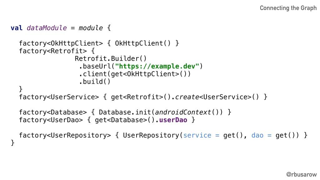 val dataModule = module { factory<OkHttpClient>...