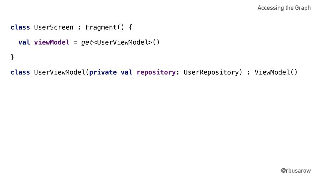 @rbusarow class UserScreen : Fragment() { val v...