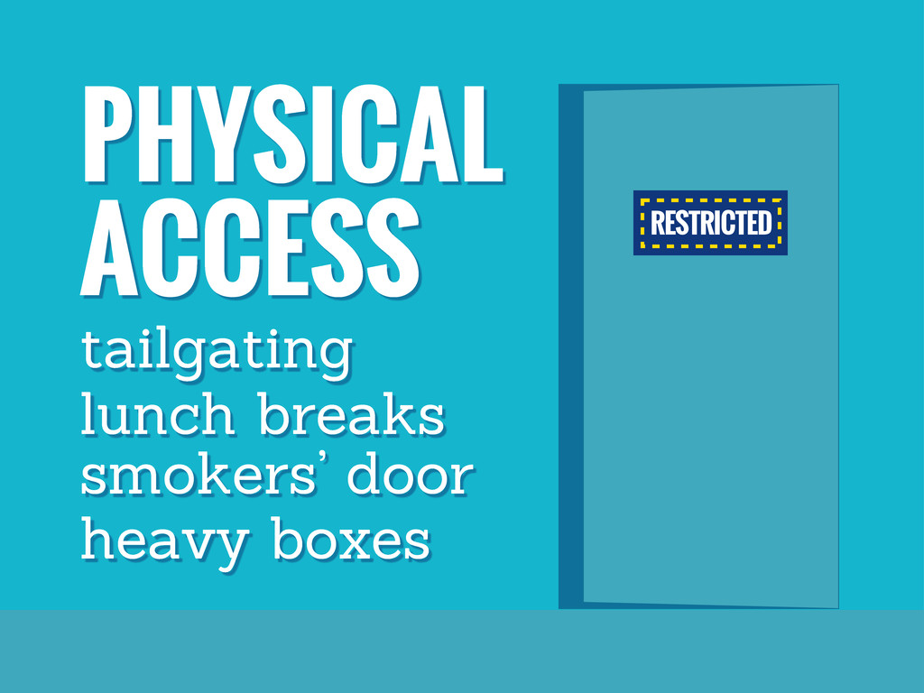 RESTRICTED PHYSICAL ACCESS tailgating lunch bre...