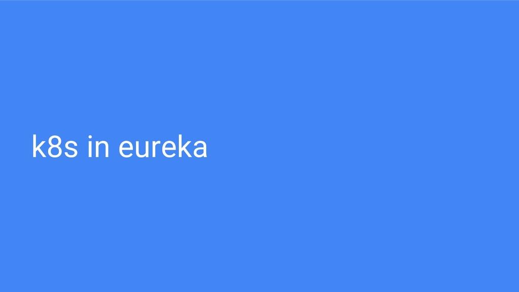 k8s in eureka