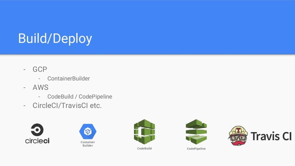 Build/Deploy - GCP - ContainerBuilder - AWS - C...