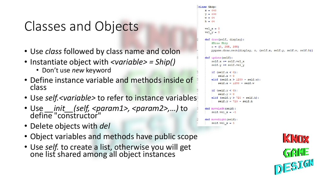 Classes and Objects • Use class followed by cla...