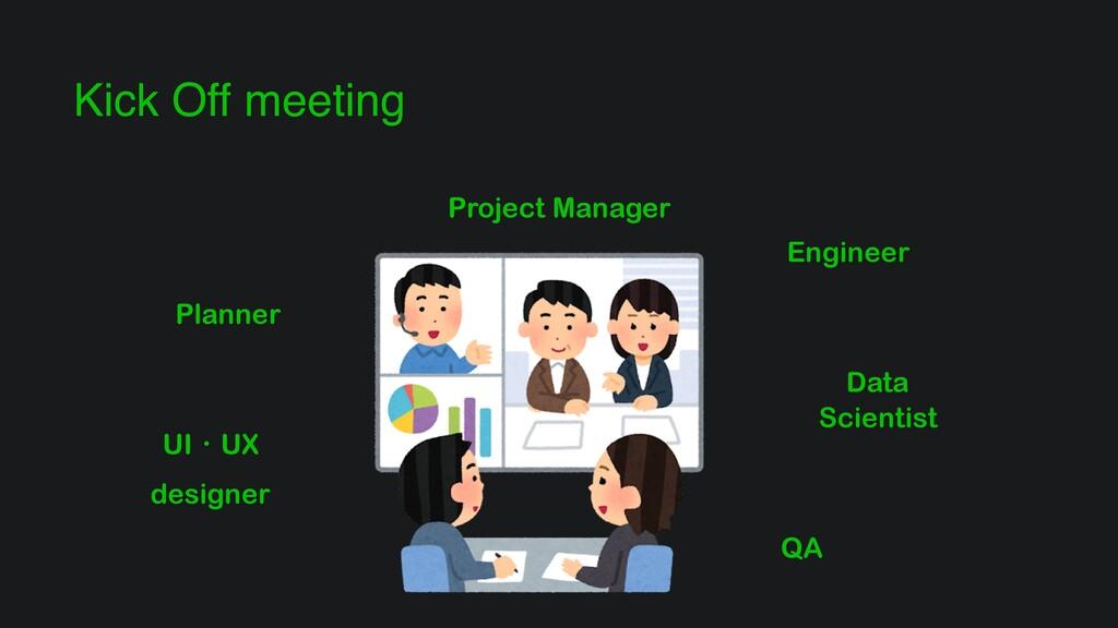 Kick Off meeting Planner Engineer Data Scientis...