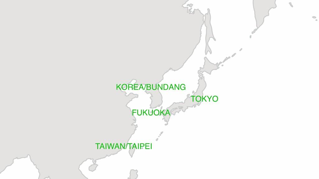 KOREA/BUNDANG TAIWAN/TAIPEI TOKYO FUKUOKA