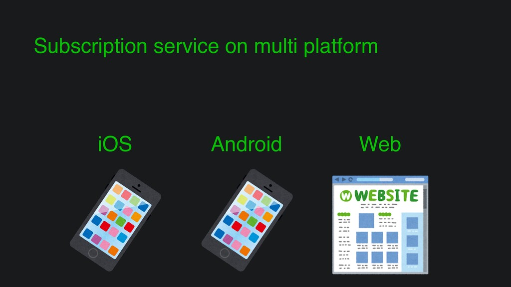 Subscription service on multi platform iOS Andr...