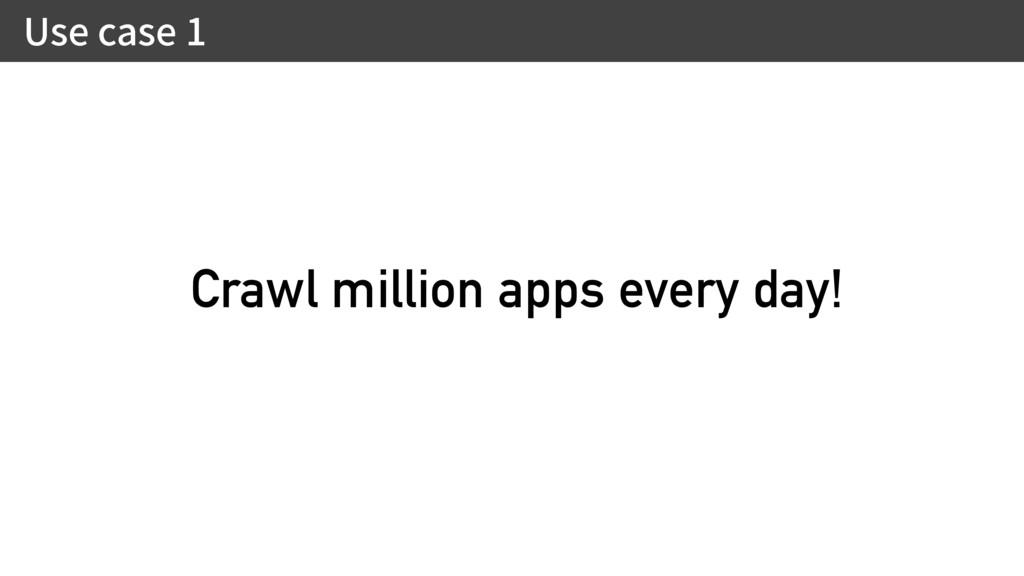 6TFDBTF Crawl million apps every day!