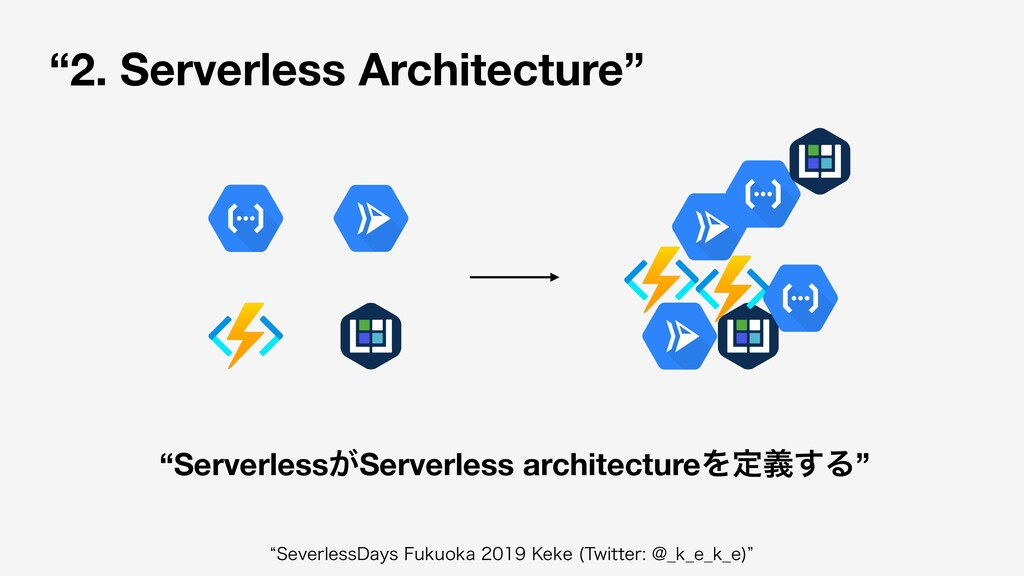 """2. Serverless Architecture"" ""Serverless͕Server..."