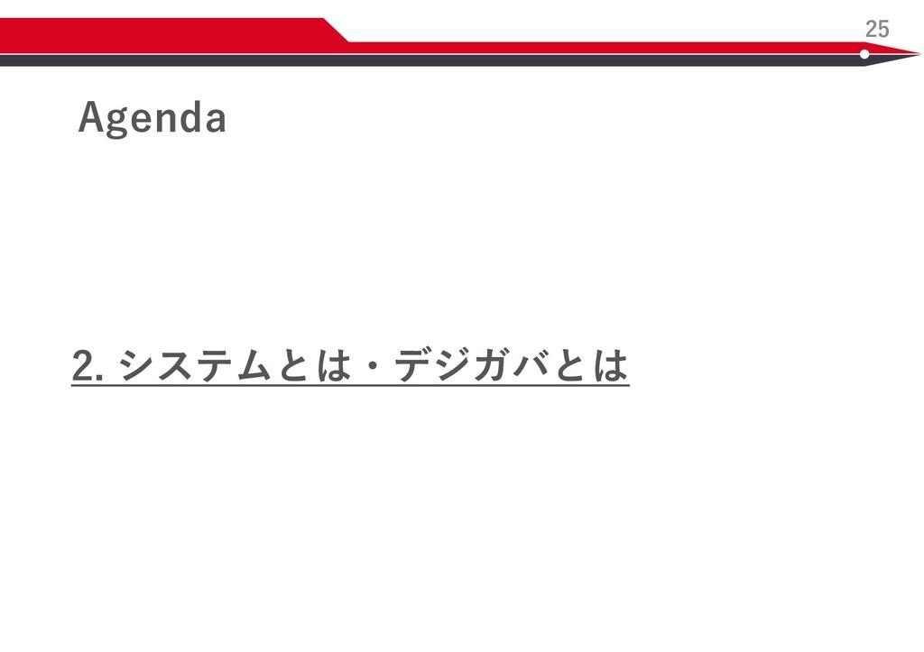 25 Agenda 2. システムとは・デジガバとは