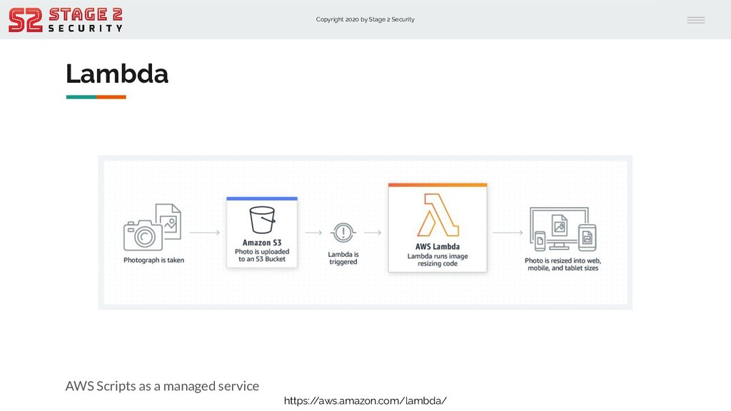 Copyright 2020 by Stage 2 Security Lambda AWS S...