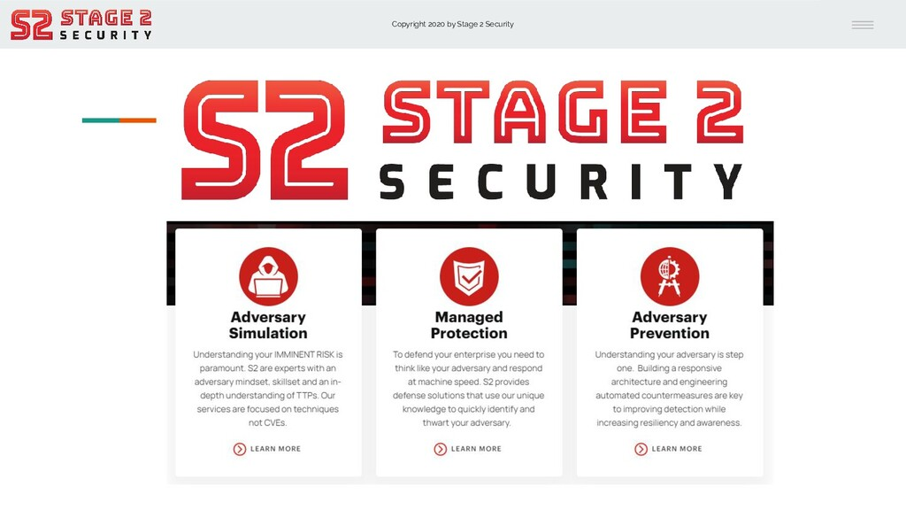 Copyright 2020 by Stage 2 Security