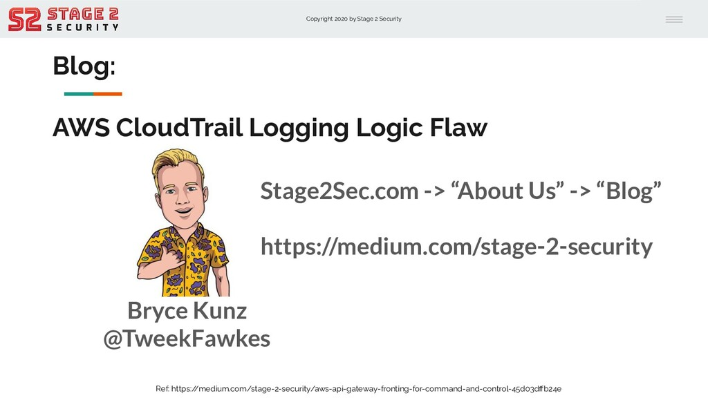 Copyright 2020 by Stage 2 Security Blog: AWS Cl...