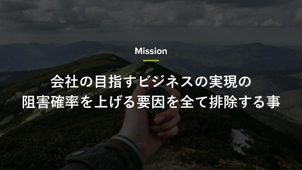 Mission ձࣾͷࢦ͢Ϗδωεͷ࣮ݱͷ ્֬Λ্͛ΔཁҼΛશͯഉআ͢Δ