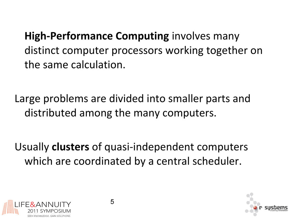 5 High-Performance Computing involves many dist...