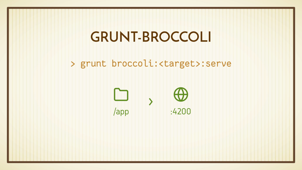 GRUNT-BROCCOLI > grunt broccoli:<target>:serve ...