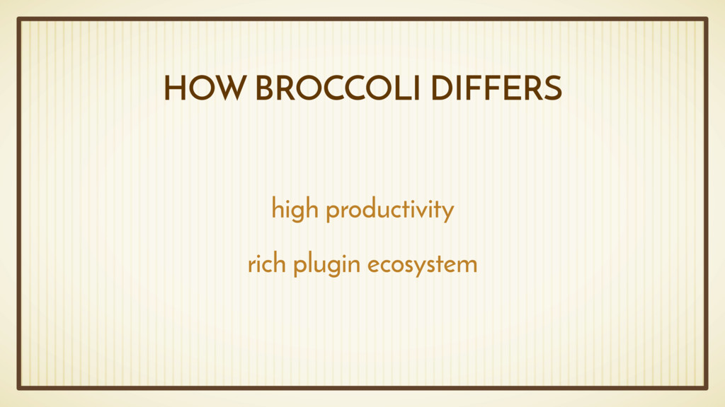 HOW BROCCOLI DIFFERS high productivity rich plu...