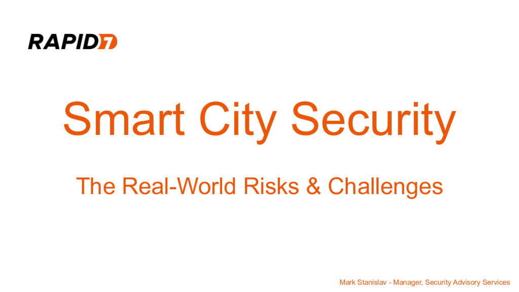 Smart City Security