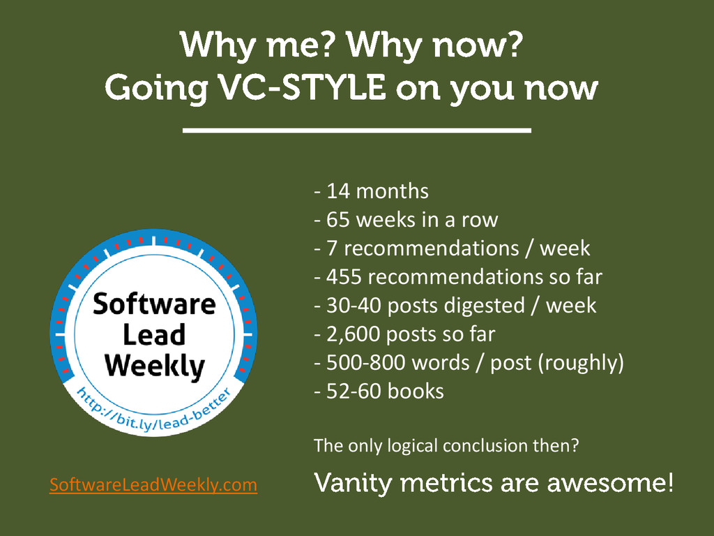 SoftwareLeadWeekly.com - 14 months - 65 weeks i...