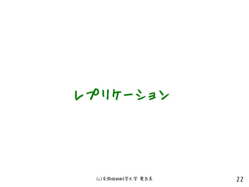 (c)長岡技術科学大学 電気系 22 レプリケーション