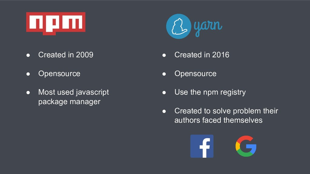 ● Created in 2009 ● Opensource ● Most used java...