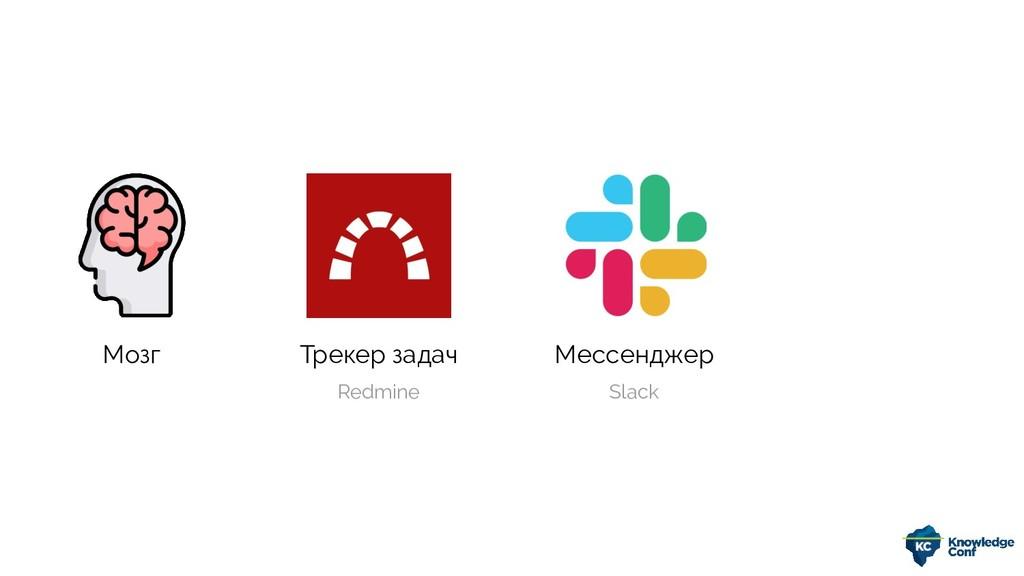 Мозг Трекер задач Мессенджер Redmine Slack