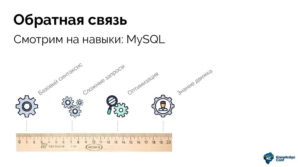 Смотрим на навыки: MySQL Обратная связь Базовый...