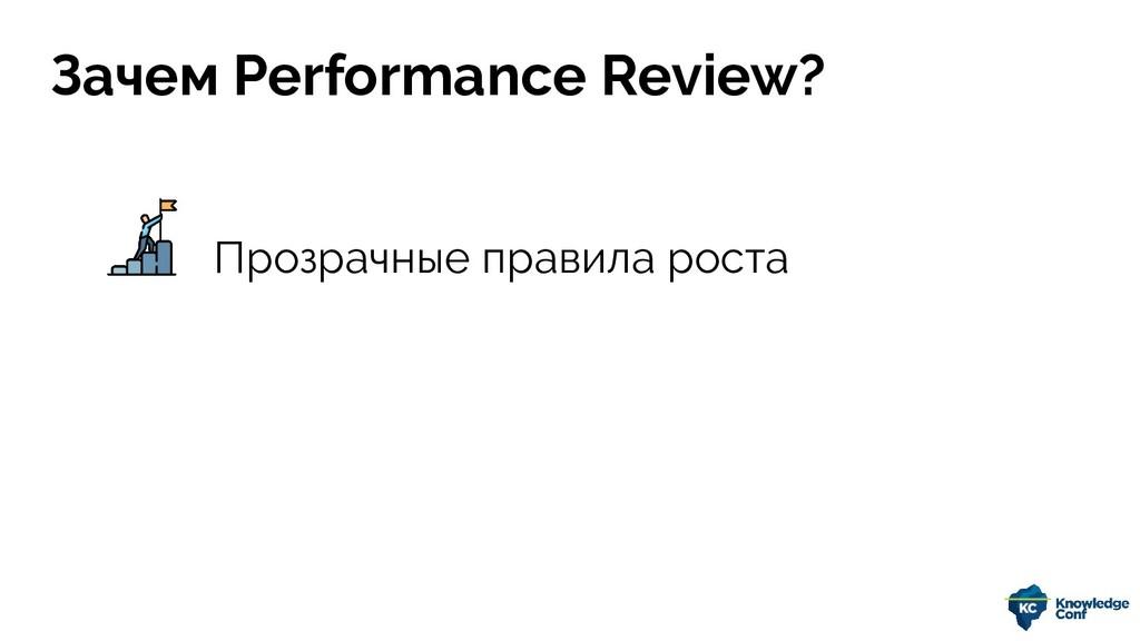 Прозрачные правила роста Зачем Performance Revi...