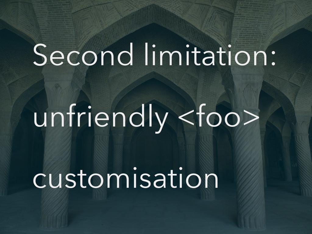 Second limitation: unfriendly <foo> customisati...