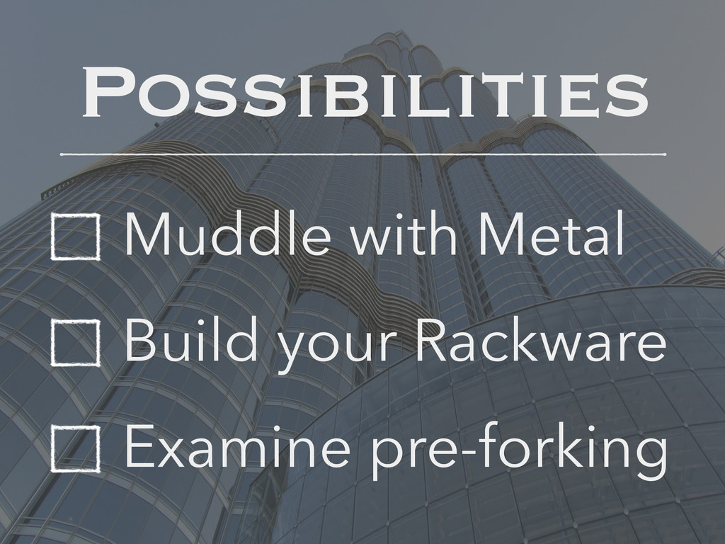 Muddle with Metal Build your Rackware Examine p...