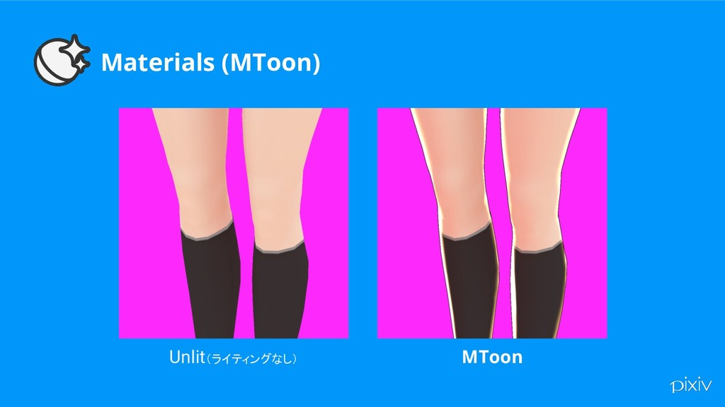 Materials (MToon) Unlit(ライティングなし) MToon