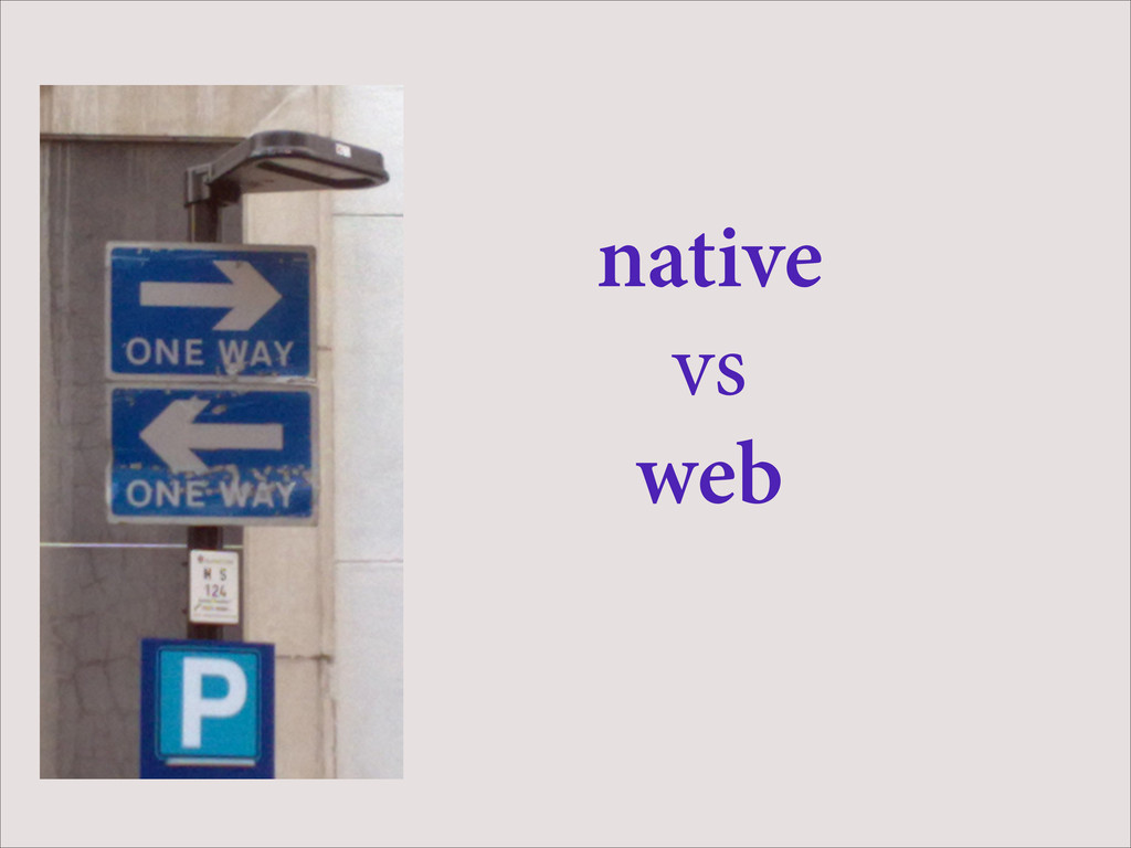 native vs web