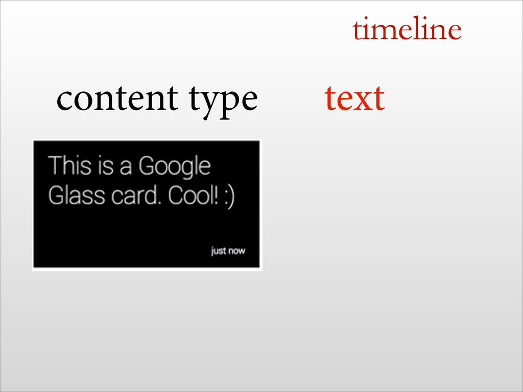 timeline text content type