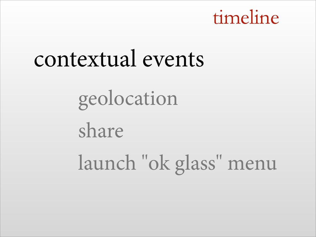 timeline contextual events geolocation share la...
