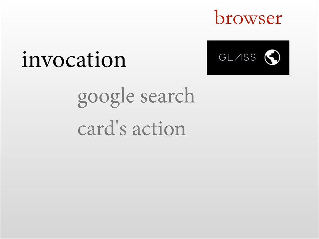 browser invocation google search card's action