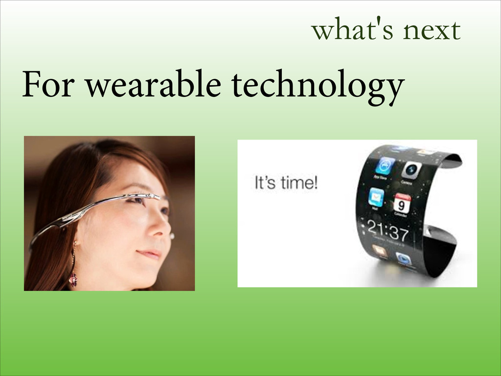 what's next For wearable technology