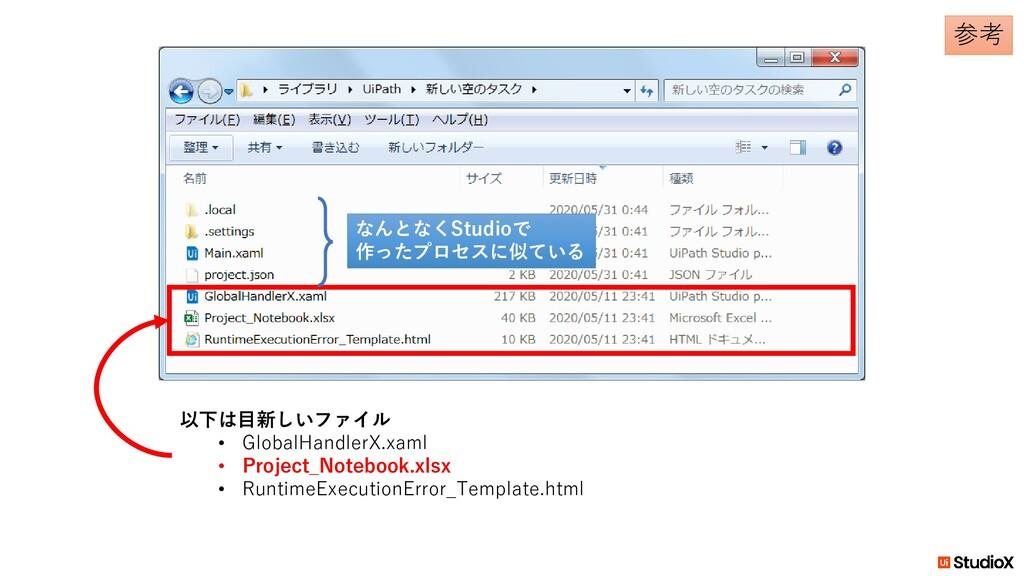 以下は目新しいファイル • GlobalHandlerX.xaml • Project_Not...