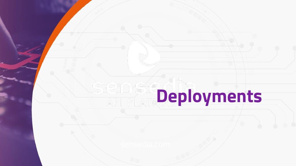 sensedia.com Deployments