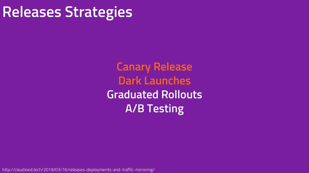 Canary Release Dark Launches Graduated Rollouts...