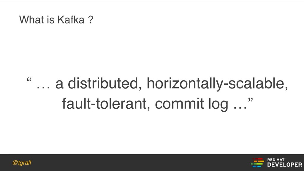 "@tgrall "" … a distributed, horizontally-scalabl..."