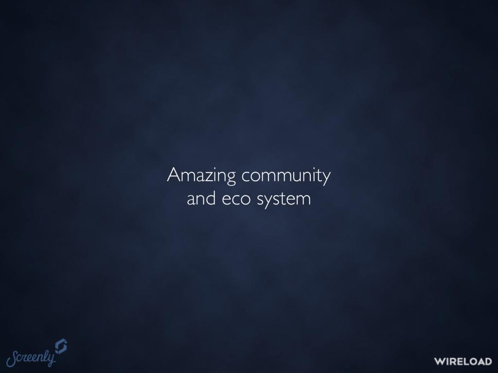 Amazing community and eco system