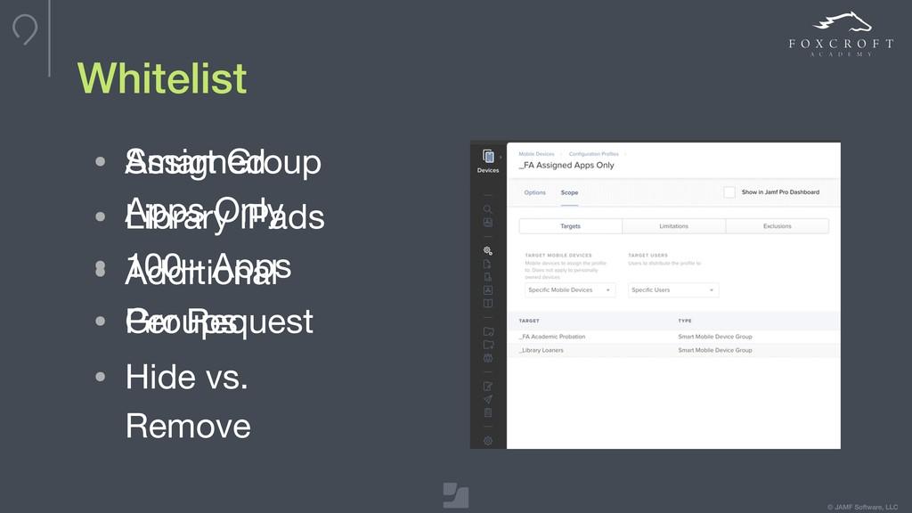 © JAMF Software, LLC Whitelist • Assigned Apps ...
