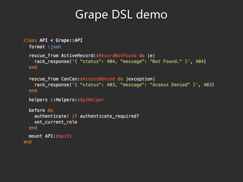 Grape DSL demo