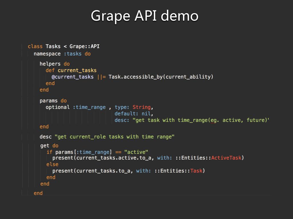 Grape API demo