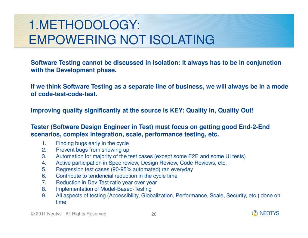 1.METHODOLOGY: EMPOWERING NOT ISOLATING Softwar...